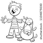 black and white cartoon... | Shutterstock .eps vector #1104875030