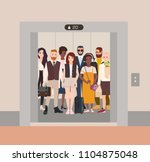 different people standing in...   Shutterstock .eps vector #1104875048
