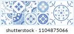 bundle of ceramic square tiles... | Shutterstock .eps vector #1104875066