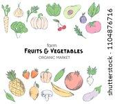farm vegetables vector poster....   Shutterstock .eps vector #1104876716