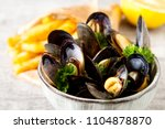 Mussels With Herbs In A Bowl...