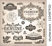 vector set of calligraphic... | Shutterstock .eps vector #110487920