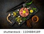 french cuisine  beef steak... | Shutterstock . vector #1104884189