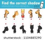 cute little giraffe find the... | Shutterstock .eps vector #1104885290