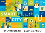 green city  smart city concept  ... | Shutterstock .eps vector #1104887510