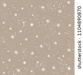 seamless pattern with snow and... | Shutterstock .eps vector #1104890870
