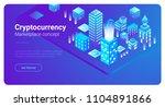 isometric smart city... | Shutterstock .eps vector #1104891866