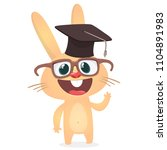 cute cartoon rabbit wearing... | Shutterstock .eps vector #1104891983