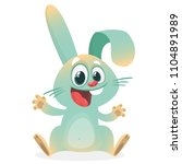 cute cartoon bunny rabbit... | Shutterstock .eps vector #1104891989