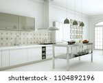 3d illustration of white modern ... | Shutterstock . vector #1104892196