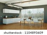 3d illustration of white modern ... | Shutterstock . vector #1104893609