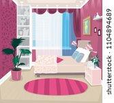 empty pink children or nursery... | Shutterstock .eps vector #1104894689