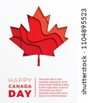 canada day vertical banner... | Shutterstock .eps vector #1104895523