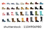 stylish and fashionable shoes ... | Shutterstock .eps vector #1104906980