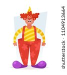 funny cartoon character. cute... | Shutterstock .eps vector #1104913664