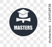 masters degree vector icon...   Shutterstock .eps vector #1104918938