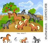 how many animals. counting... | Shutterstock .eps vector #1104921458