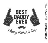 best daddy ever t shirt retro...   Shutterstock .eps vector #1104922748