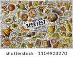 colorful vector hand drawn... | Shutterstock .eps vector #1104923270