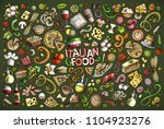 colorful vector hand drawn... | Shutterstock .eps vector #1104923276
