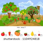 how many fruits and vegetables. ... | Shutterstock .eps vector #1104924818
