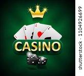 casino marketing banner with...   Shutterstock .eps vector #1104926699