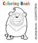 coloring book cute cartoon lion ... | Shutterstock .eps vector #1104927854