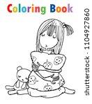 coloring book cute cartoon... | Shutterstock .eps vector #1104927860