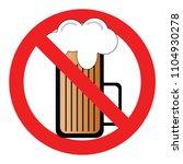 set no sign  no alcohol... | Shutterstock .eps vector #1104930278