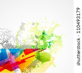 vector creative abstract art... | Shutterstock .eps vector #110493179