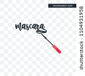 mascara vector icon isolated on ... | Shutterstock .eps vector #1104931958