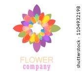 colorful flower logo  symbol ... | Shutterstock .eps vector #1104932198