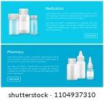 medication and pharmacy web... | Shutterstock .eps vector #1104937310