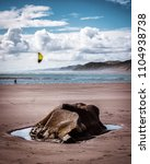 Small photo of Beautiful summers day on Raglan beach in New Zealand!