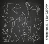 white line vector polygonal...   Shutterstock .eps vector #1104939299