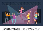 young people crowd dencing on... | Shutterstock .eps vector #1104939710