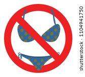 no allowed swimsuit  isolated... | Shutterstock .eps vector #1104941750