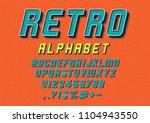 vector of retro font and... | Shutterstock .eps vector #1104943550