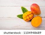 fresh and beautiful mango fruit ... | Shutterstock . vector #1104948689