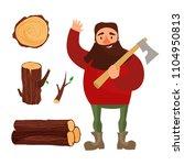 illustration of a lumberjack... | Shutterstock .eps vector #1104950813