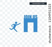 join us vector icon isolated on ... | Shutterstock .eps vector #1104951323
