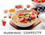 serving option of granola bowl... | Shutterstock . vector #1104951779