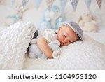 sweet little child  baby boy ... | Shutterstock . vector #1104953120