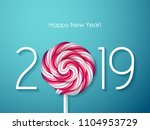 2019 happy new year background... | Shutterstock .eps vector #1104953729