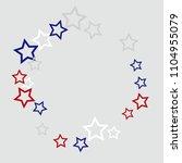 colorful stars confetti ... | Shutterstock .eps vector #1104955079