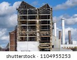 a large industrial structure at ... | Shutterstock . vector #1104955253