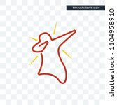 dab vector icon isolated on... | Shutterstock .eps vector #1104958910