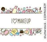 cute makeup border for your... | Shutterstock .eps vector #1104961829