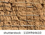 background of traditional mud... | Shutterstock . vector #1104964610