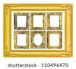 the antique gold frame on the... | Shutterstock . vector #110496470